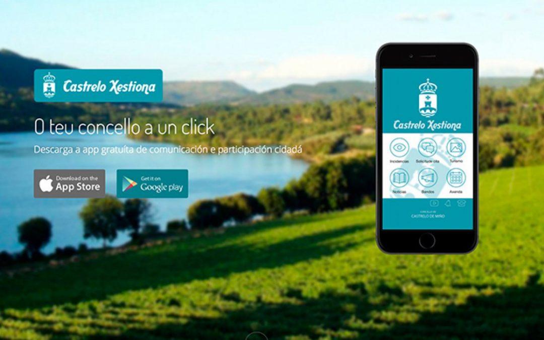 CASTRELO XESTIONA es la aplicación móvil del Concello de Castrelo de Miño