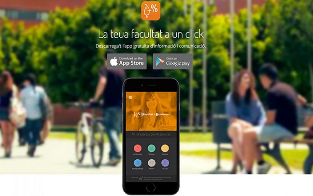 «App FdE» es la aplicación móvil de la Facultad de Economía de la Universidad de Valencia realizada por ESVEU