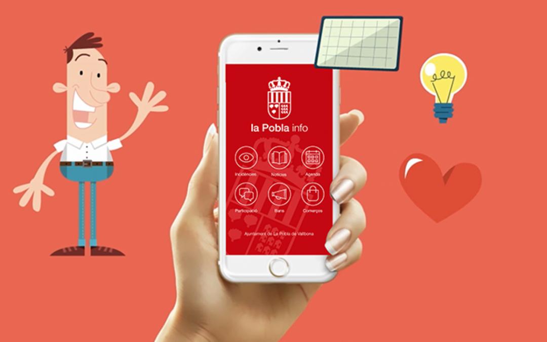 Ya está disponible la nueva versión de la App Pobla info con más funciones y más intuitiva