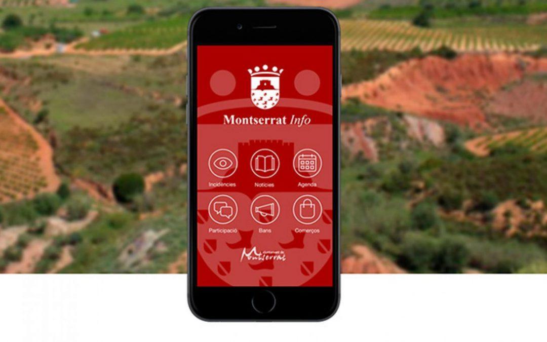 Tu ayuntamiento a un click. Nueva aplicación móvil para Montserrat