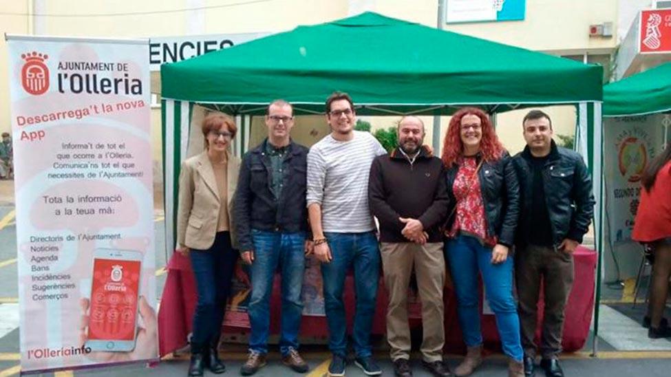 El Ayuntamiento de l'Olleria presenta la nueva aplicación de Esveu «L'Olleria Info»